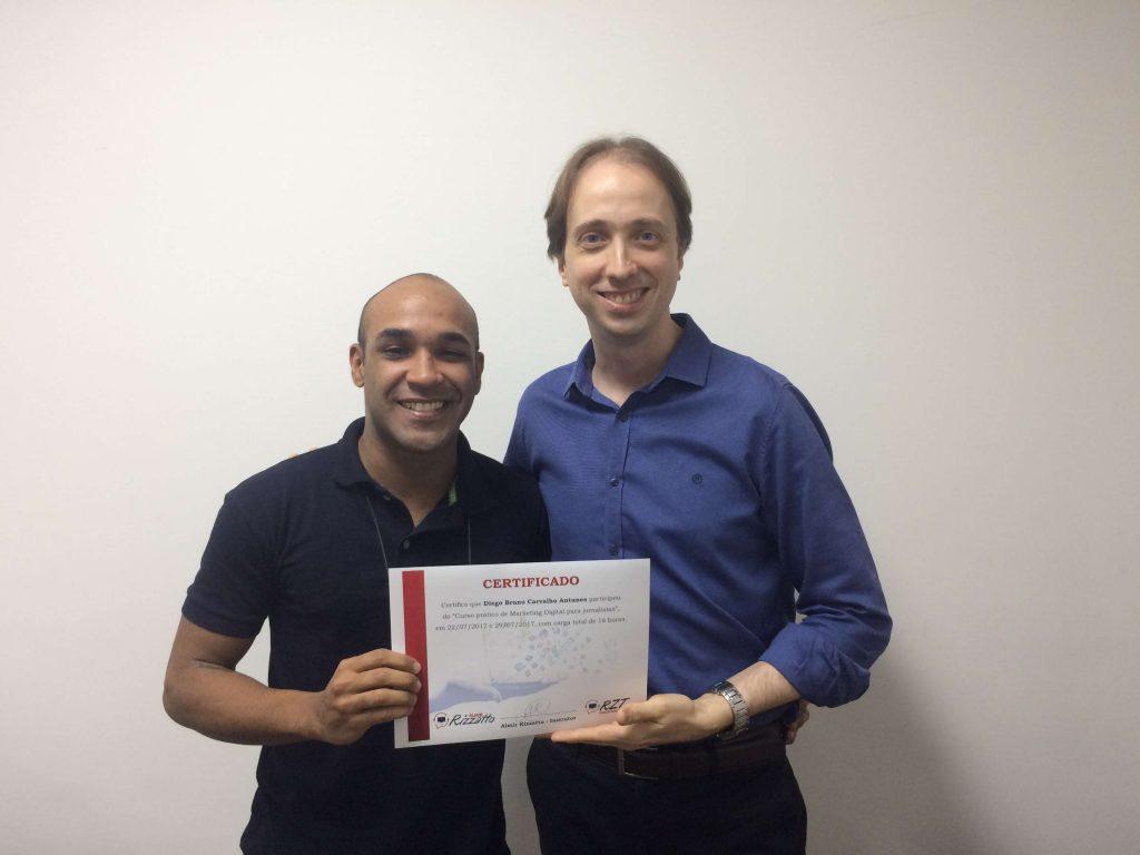 Diego Antunes e Almir Rizzatto – Turma 7 do curso de Marketing Digital para jornalistas