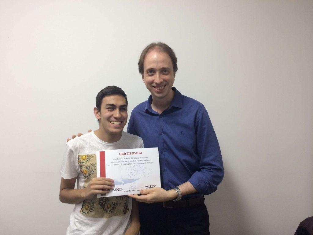 Gustavo Torniero e Almir Rizzatto – Turma 7 do curso de Marketing Digital para jornalistas