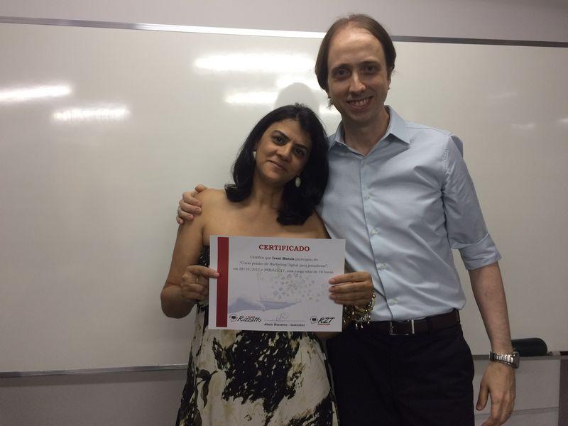 Curso de Marketing Digital para jornalistas em Brasília - Ivani Morais e Almir Rizzatto