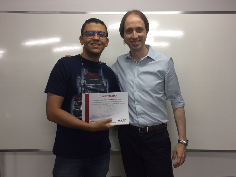 Curso de Marketing Digital para jornalistas em Brasília - José Maciel e Almir Rizzatto