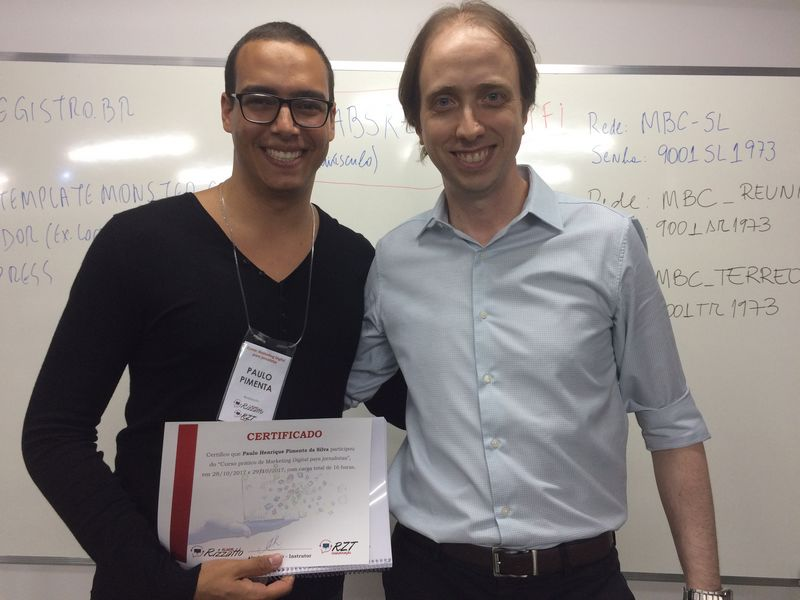 Curso de Marketing Digital para jornalistas em Brasília - Paulo Pimenta e Almir Rizzatto