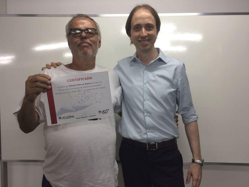 Curso de Marketing Digital para jornalistas em Brasília - Ricardo Nobre e Almir Rizzatto