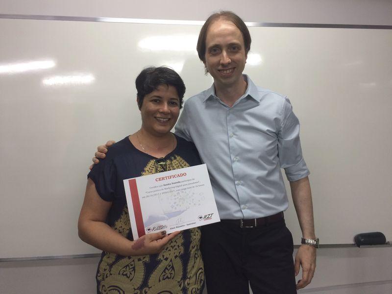 Curso de Marketing Digital para jornalistas em Brasília - Sandra Fontella e Almir Rizzatto