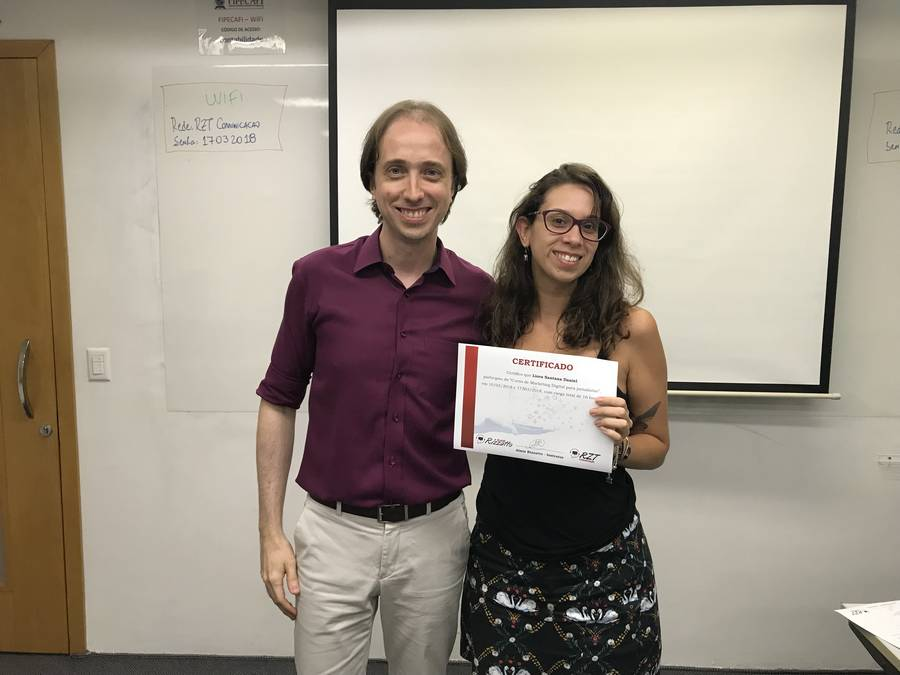 Curso de Marketing Digital para jornalistas - Almir Rizzatto e Liora Santana