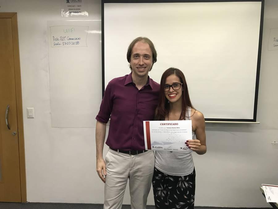 Curso de Marketing Digital para jornalistas - Almir Rizzatto e Tatiana Santos